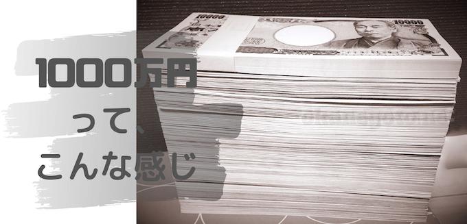 1000万円 って、 こんな感じ